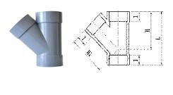 JIS-AW 45° Tee